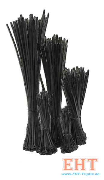Kabelbänder 4,8 x 200 schwarz (100 Stück)