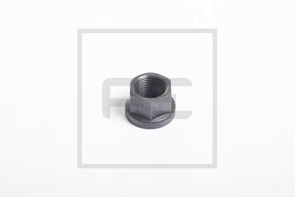 Radmutter CM 20x1,5 SW 27 schwarz HW 60 / THK 5