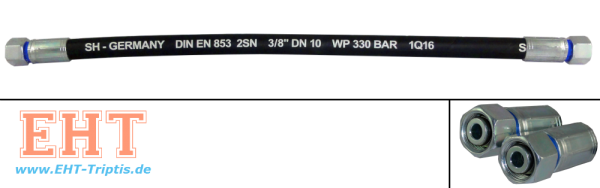 8x1500 Hydraulikschlauch M16x1,5 DKOL SW 19