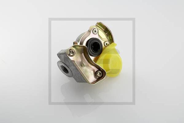 Kupplungskopf, gelb, M16x1,5 Zugmaschine