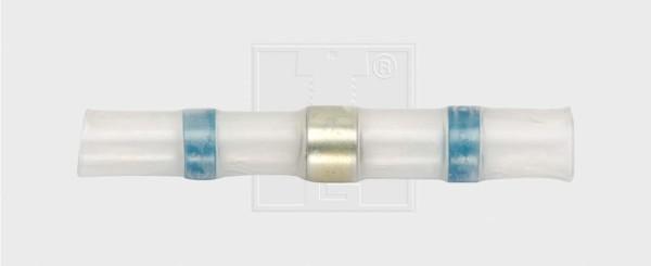 Lötstoßverbinder mit thermoplastischem Ring 2 - 4 mm², blau