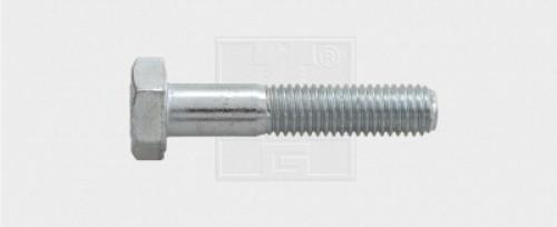 Sechskantschraube Schaft M18 x 180 8.8 verzinkt DIN 931