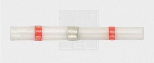 Lötstoßverbinder mit thermoplastischem Ring 0,8 - 2 mm², rot