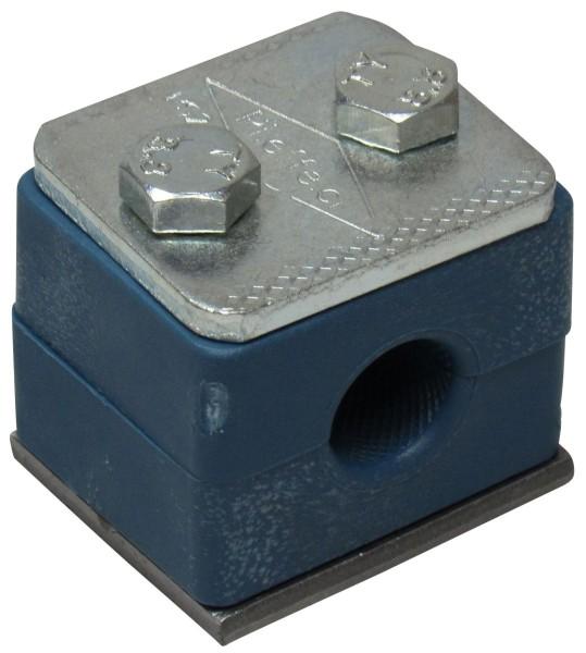 Rohrschelle einfach für Ø 15 mm Rohr