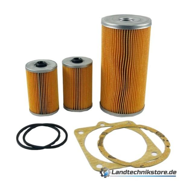 Filterset W50 / ZT (2xKraftstofffilter 0,5 L) Ölfilter+2 x Kraftstofffilter+Dichtungen
