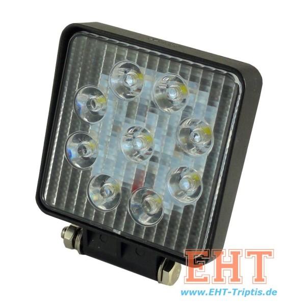 LED Arbeitsscheinwerfer rechteckig 2200 lm 27 Watt