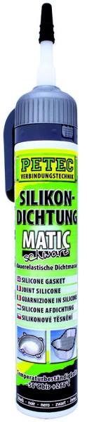 PETEC Silikondichtung MATIC schwarz 200 ml