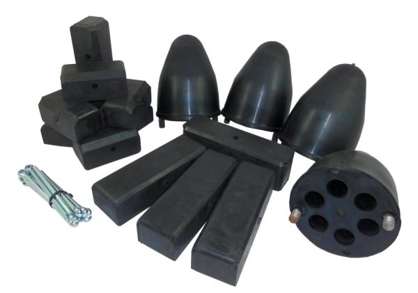 Gummipuffer für HW 80 Schwerhäckselaufbau im Set
