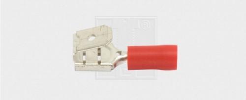 Flachsteckhülse Steckverteiler 6,3/0,5-1,5mm², rot