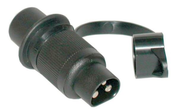Stecker 12V 3-polig Kunststoff