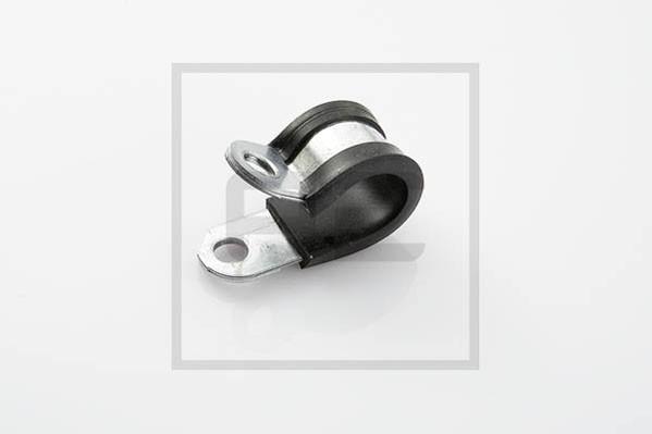 Rohrschelle RSGU 15/15 mit Gummiprofil für Ø 15 mm Rohr