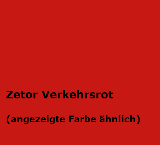 Kunstharzlack Zetor rot 2,5 Kg Dose