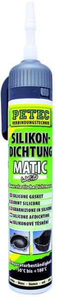 PETEC Silikondichtung MATIC weiß 200 ml