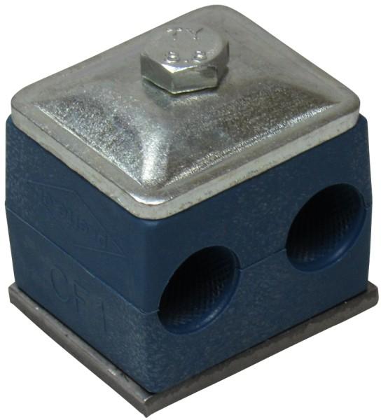 Rohrschelle doppelt für Ø 15 mm Rohr