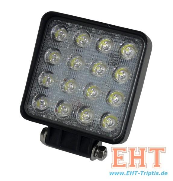 LED Arbeitsscheinwerfer rechteckig 3000 lm 48 Watt
