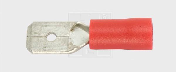 Flachsteckzunge 6,3 / 0,5-1,5mm², rot