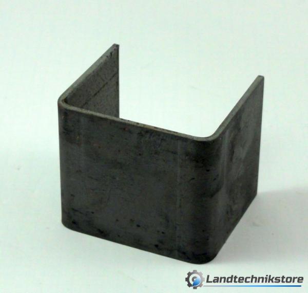 Schuh mittig für Stirn/Rückwand HW 80 ohne Loch